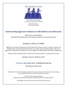 Oct 8 Aggression Flyer with Dr Sherkow